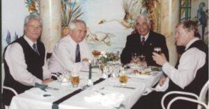 on links nach rechts: Erich Linemayr, Johann Hantschk, Paul Schiller, Horst Brummeier. Foto: wienerschiri.at