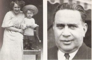 Der zweijährige Fritz Eckhardt 1909 in Linz mit seiner leider früh verstorbenen Mutter Helene Norman, sowie rechts sein Vater, Theaterdirektor und Schauspieler Viktor Eckhardt. Foto: Fritz Eckhardt / Sammlung oepb