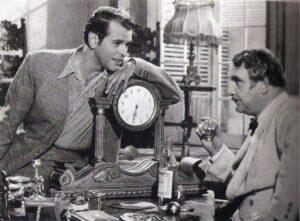 """Theo Lingen führte 1947 Regie. In """"Hin und Her"""" spielte O. W. Fischer (links) den Sohn, auf den Fritz Eckhardt (rechts) stolz sein konnte. Foto: Fritz Eckhardt / Sammlung oepb"""