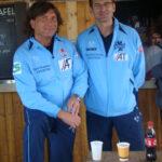 Die sportlichen Stationsvorstände der Ostbahn: Gerald Hauer (links) und Kurt Jusits.
