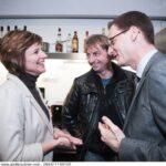 Jacqueline Streit, Head cremesso International in interessanter Diskussion über die Kaffeevorlieben mit Christian Lengauer (rechts) und Thomas Hautz. Alle Fotos: andibruckner.com