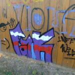 Graffiti vor dem Horr-Stadion