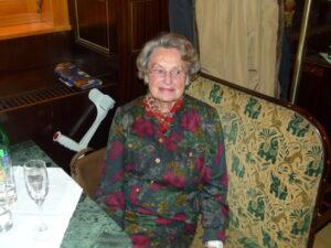 Martha Kyrle, Tochter von Adolf Schärf, im Cafe Weimar. Foto: oepb