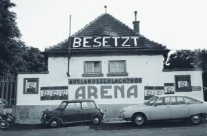 Arena besetzt 1976, Foto: Heinz Riedler, Samlung Wien Museum