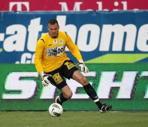 Mattersburg-Keeper Thomas Borenitsch war beim einzigen Treffer chancenlos. Foto: GEPA