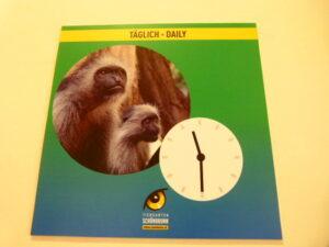 """Die Informationen zu den """"Tieren im Affenhaus"""" finden täglich statt."""