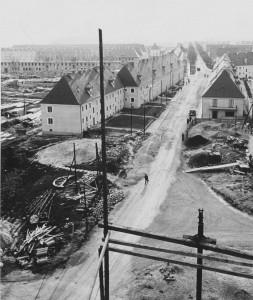 Blick vom Werkshotel der späteren VÖEST in die Glimpfingerstraße 1938/39. Foto: WAG