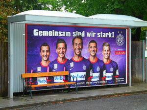 FK Austria Wien-Plakat, Sommer 2012.