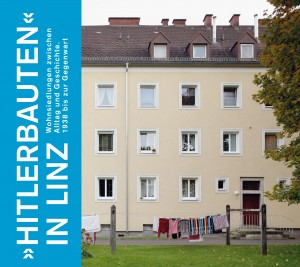 "Buch-Cover ""Hitlerbauten"" in Linz."