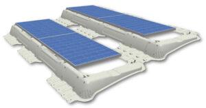 Das neuartige Photovoltaikmodul ECOTHERM PV-iFIX kann ohne ein einziges Werkzeug am Dach verlegt werden. Das System wird nicht mit dem Dach verbunden. Das spart wertvolle Zeit bei der Montage. Foto: ECOTHERM