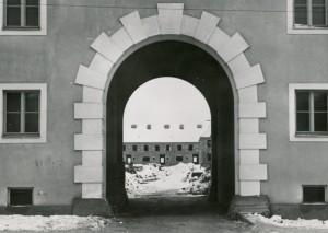 Der Bau der Spallerhof-Siedlung im Dezember 1939 ist in vollem Gange. Foto: NORDICO
