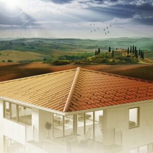Mediterran und fließend schön - die neue Toscana Dachplatte von Eternit. Foto: Eternit