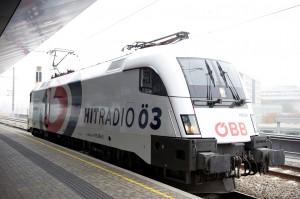 Hitradio Ö3 und die ÖBB - zweisam gemeinsam. Foto: ÖBB/Zenger