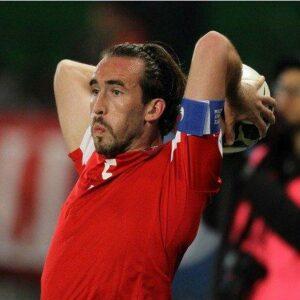 Kapitän Christian Fuchs bestarch in seinem 51. Länderspiel erneut mit einer guten Leistung. Foto: GEPA