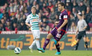 Kaja Rogulj spielte seinen Part in der violetten Abwehr einwandfrei, wurde aber auch nicht maßlos gefordert. Foto: GEPA