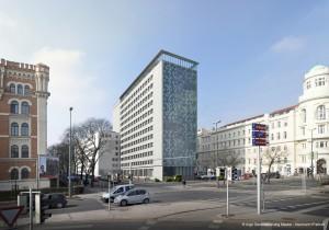 """Visualisierung des neuen Universitätsstandortes """"Uni Wien Rossau"""". Foto: Neumann + Partner/Tom Cervinka"""