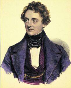 Als Johann Nestroy seine Karriere begann, hielt man die Portraits noch in Stichen fest.