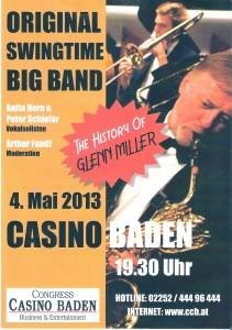 Ankündigung für die Swingtime Big Band