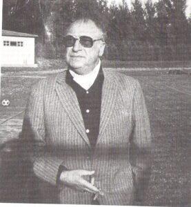 """Josef """"Pepi"""" Argauer - hier am WAC-Platz im Wiener Prater - gilt als der Erfinder des Hallenfußballs in Wien und Österreich."""
