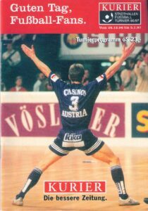 Das offizielle Turnier-Programm von 1996/97.