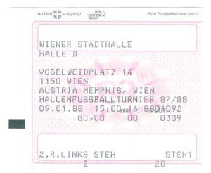Der Eintrittspreis betrug im Jänner 1988 beispielsweise ATS 80,- (EUR 5,80)