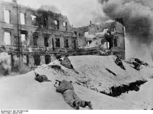 Erbitterte Kämpfe um die Stadt Stalingrad. Foto: Allg. Deutscher Nachrichtendienst