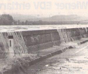Die Donau tritt im August 1991 jeden Moment über die Ufer und hinterlässt in Krems-Stein eine Spur der Verwüstung.