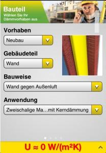 Isover App_Bauteil