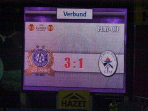 UEFA Europa League/18. August 2011 - FK Austria Wien gg. CS GAZ Metan Medias/3 : 1. Foto: oepb