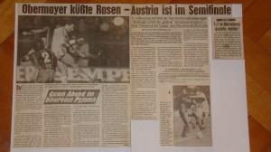 Die beiden Faksimile bestehen aus Artikeln der Kronen-Zeitung, vom KUREIR, sowie den OÖ-Nachrichten vom März 1983. Foto: oepb
