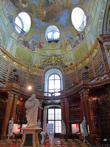 Blick in den Prunksaal der Österr. Nationalbibliothek. Foto: oepb