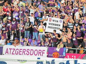 Die Austria-Fans in freudiger Erwartung: Foto: oepb