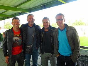 Betreuer-Stab der FAK-Kampfmannschaft v.l.: Manfred Mayer, Franz Gruber, Manfred Schmid und Peter Stöger. Foto: oepb