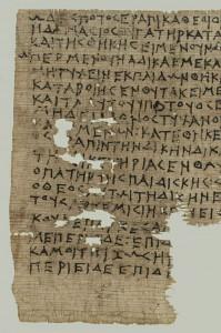 Klage der Artemisia, Papyrus 4. Jh. v. Chr.Foto: Österr. Nationalbibliothek