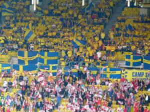 Zahlreich, jedoch nicht lautstark - die Schweden. Foto: oepb