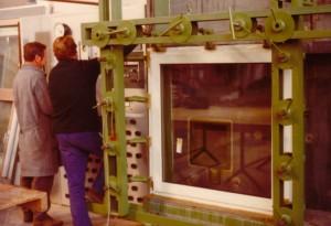 Ein Blick in die Fenster-Produktion des Jahres 1975. Foto: Internorm