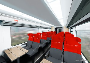 Blick hinein und Innenansichten des neuen Nahverkehrszuges Desiro. Foto: Spirit Design, SIEMENS