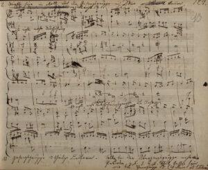 """Bruckner-Autograph aus dem """"Kitzler-Studienbuch"""" . Foto: Österreichische Nationalbibliothek"""
