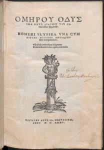 Homerus: Ulyssea (et Ilias), Basel 1535 . Foto: Österreichische Nationalbibliothek