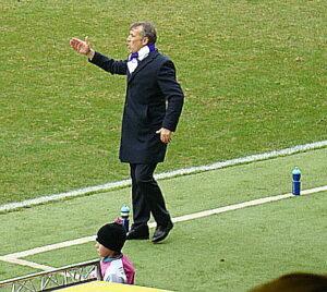 Herbert Gager dirigierte seine Jungs unermüdlich von der Coaching-Zone aus. Foto: oepb