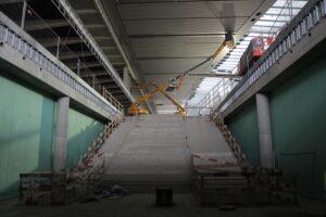Aufgang Eingangshalle Wien Hauptbahnhof. Foto: ÖBB/Haider