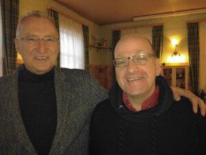 Generaldirektor und Fußball-Mäzen Gerhard Marischka (links), sowie 1. SSC-Obmann Mirko Sraihans. Foto: privat