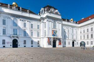 Blick auf Österreichische Nationalbibliothek am Wiener Josefsplatz . Foto: Österreichische Nationalbibliothek