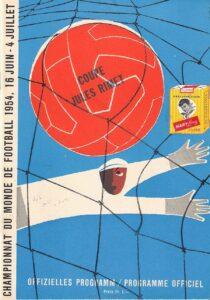 Cover des 36seitigen DinA5-Matchprogrammes gegen die Schweiz vom 26. Juni 1954.