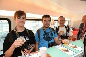 Die ÖBB-Facebook Fans im Zug anlässlich der railjet cd Präsentation. Foto: ÖBB