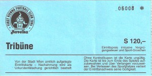 Ticket von Vienna gg. FAK 1996