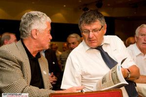 20. Juni 2008: Rudi Flögel und Ferdinand Milanovich im Linzer Casineum anläßlich des Legendentreffens. Foto: cityfoto.at