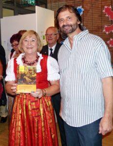 Die Autorin Marita Haller und der Ideengeber zum Buch Ivan Falta bei der Präsentation im Juli 2014.