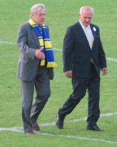 """Hans Buzek (links), sowie der Döblinger """"Bürgermeister"""" Adi Tiller."""