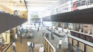 Visualisierung Hauptbahnhof Wien: Bahnhofshalle mit Foodcourt. Foto: ÖBB/Stadt Wien